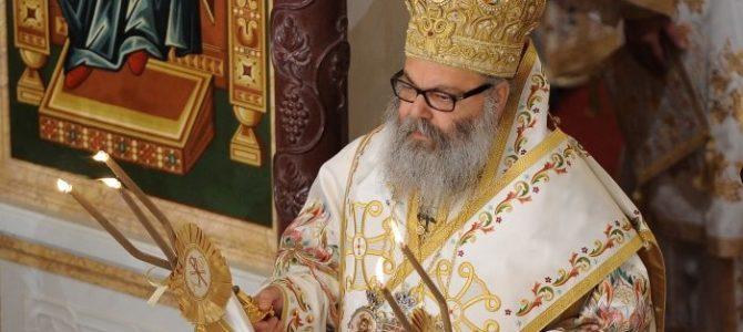 Patriarcha Antiocheński i Całego Wschodu Jan X w cerkwi Św. Ducha