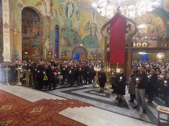 Jutrznia Wielkiego Piątku w cerkwi Św. Ducha