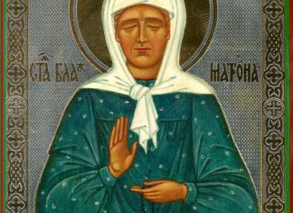 Relikwie Św. Matrony Moskiewskiej w cerkwi Św. Ducha