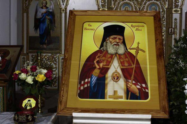 Relikwie św. Łukasza Wojno-Jasienieckiego w cerkwi Św. Ducha